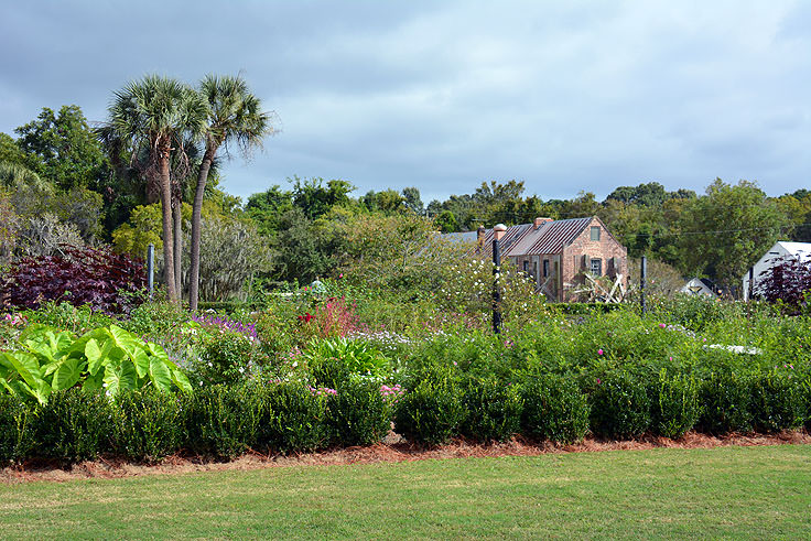 A garden view at Boone Hall Plantation, Mt. Pleasant, SC